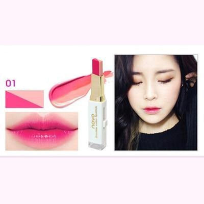 (NEW!) Novo Two Tone Gradient Color Lipstick [8 Colors] #JU2327-1-Juku Store
