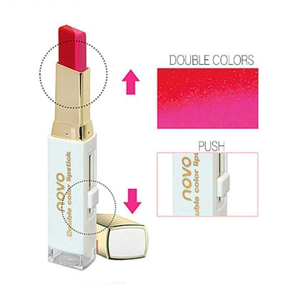 (NEW!) Novo Two Tone Gradient Color Lipstick [8 Colors] #JU2327-Juku Store