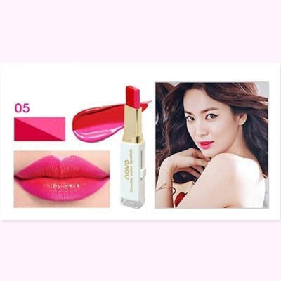 (NEW!) Novo Two Tone Gradient Color Lipstick [8 Colors] #JU2327-5-Juku Store