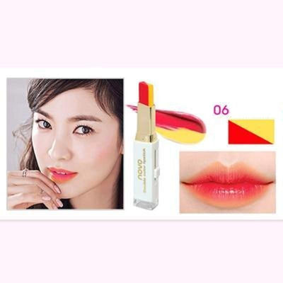 (NEW!) Novo Two Tone Gradient Color Lipstick [8 Colors] #JU2327-6-Juku Store