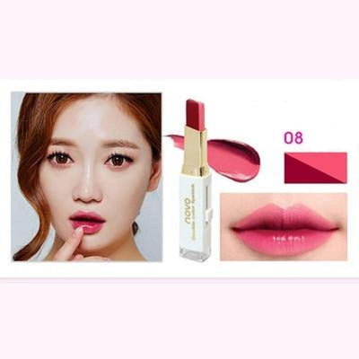 (NEW!) Novo Two Tone Gradient Color Lipstick [8 Colors] #JU2327-8-Juku Store