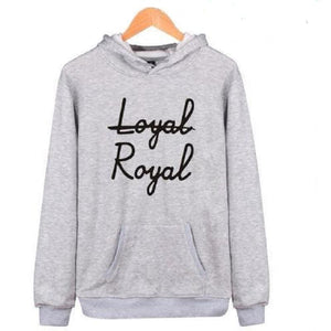 """Not Loyal, Royal"" Hoodie KPOP BTS Sweatshirts [6 Colors] #JU2287-Gray-XXS-Juku Store"