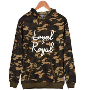 """Not Loyal, Royal"" Hoodie KPOP BTS Sweatshirts [6 Colors] #JU2287-Khaki-XXS-Juku Store"