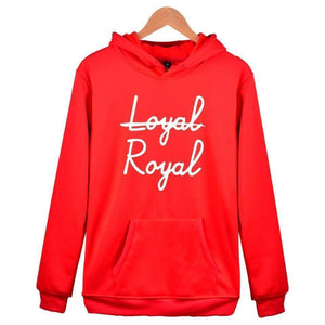 """Not Loyal, Royal"" Hoodie KPOP BTS Sweatshirts [6 Colors] #JU2287-Red-XXS-Juku Store"