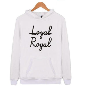 """Not Loyal, Royal"" Hoodie KPOP BTS Sweatshirts [6 Colors] #JU2287-White-XXS-Juku Store"