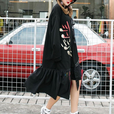 Oversized Dot Patch Fringe Dress Harajuku Streetwear #JU2737-Juku Store