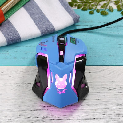 Overwatch D.VA Backlit Optical Gaming Mouse [4 Colors] #JU2181-Juku Store