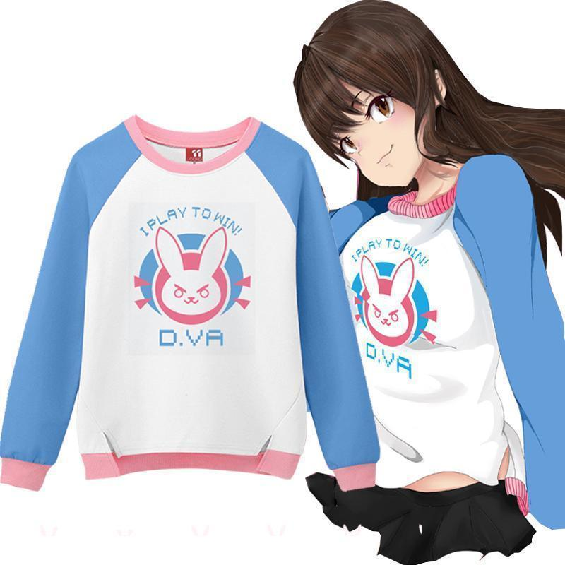 "Overwatch D.Va ""I Play to Win"" Logo Sweater #JU1987-M-Juku Store"