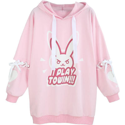 Overwatch D.Va Long Sleeve Hoodie Cosplay Costume #JU2225-Juku Store