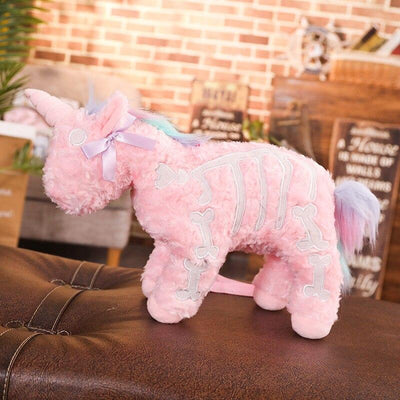 Pastel Goth Plush Unicorn Shoulder Bag Kawaii Pouch #JU2792-Juku Store