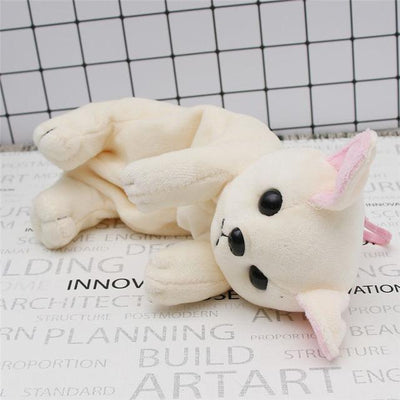 Plush Puppy Dog Pencil Case Kawaii Pencil Bag #JU2443-Beige-Juku Store