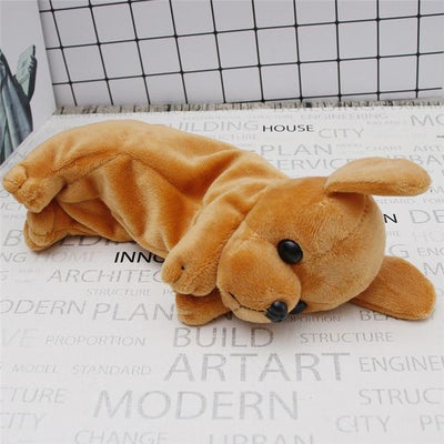 Plush Puppy Dog Pencil Case Kawaii Pencil Bag #JU2443-Brown-Juku Store