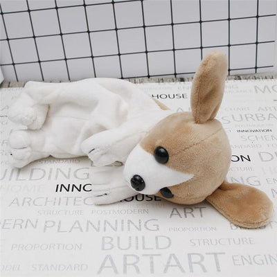 Plush Puppy Dog Pencil Case Kawaii Pencil Bag #JU2443-White-Juku Store