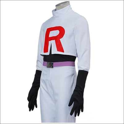 Pokemon Team Rocket Jessie And James Cosplay Costume Set [2 Styles] #JU2273-Top and Pants-S-Juku Store