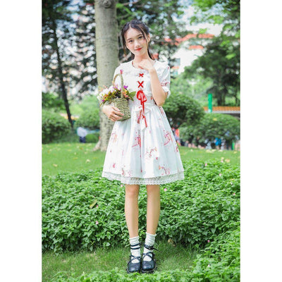 Rabbit Print Lolita Lace Dress Kawaii Princess #JU2550-Juku Store