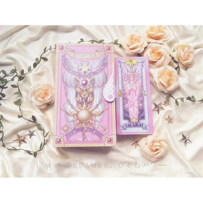 (RARE!) Card Captor Sakura 56 Pink Cards With Pink Clow Magic Book Set #JU1980-Juku Store