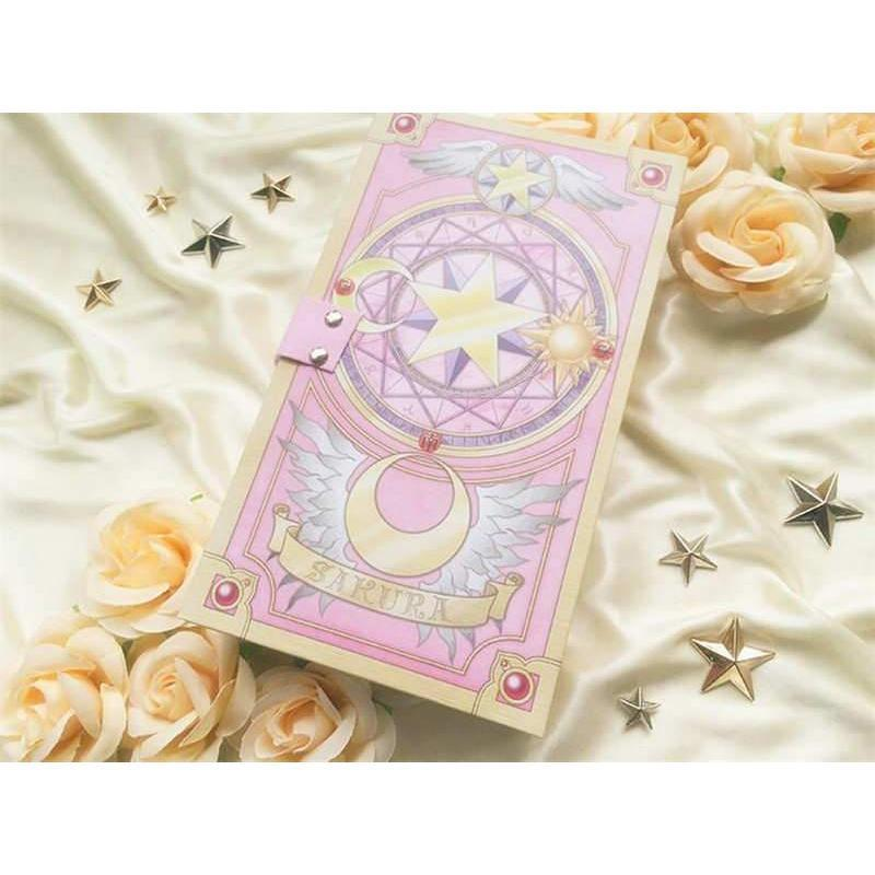 New Card Captor Sakura 56 Piece Cards With Pink Clow Magic Book Set New In Box Costume Props Novelty & Special Use