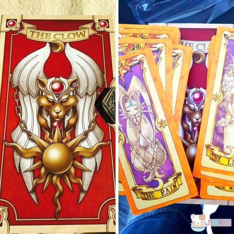 (RARE!) Cardcaptor Sakura 53 Piece Cards Set With Gold Clow Book Set #JU1899-Juku Store