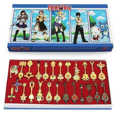 (RARE!) Fairy Tail Lucy Full 25 Piece Zodiac Keys Set Cosplay Prop #JU2013-Juku Store