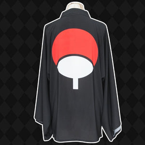 (RARE!) Naruto Sasuke Uchiha Robe Cosplay Costume[2 Colors] #JU2135-Black-One Size-Juku Store