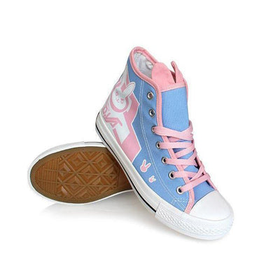 (RARE!) Overwatch D.VA Pastel Canvas Shoes #JU2006-Juku Store