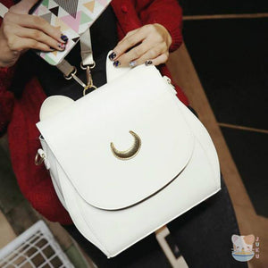 Rare Sailor Moon Double Strap Backpack / Shoulder Bag [3 Colors] #JU1815-Artemis White-Juku Store