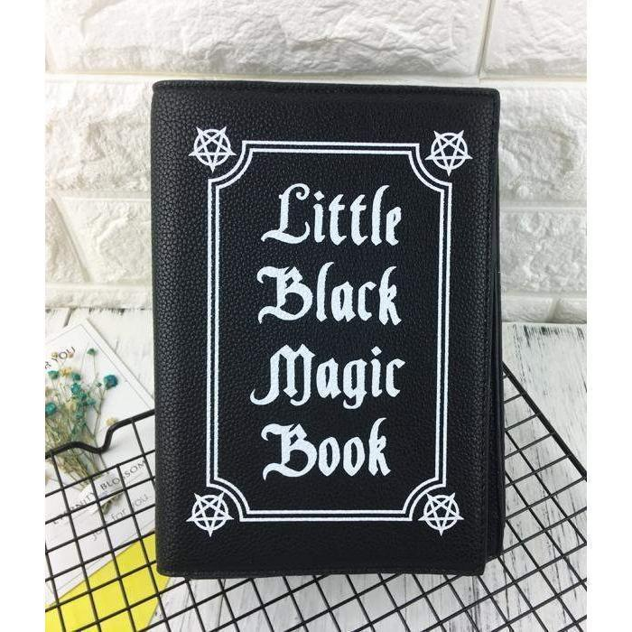 (RARE!) Yami Kawaii Witch's Black Magic Book Shoulder Bag Purse [2 Colors] #JU1940-Witch Black-Juku Store