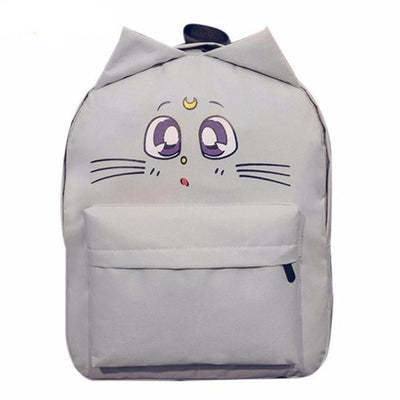 Sailor Moon Cat Backpack Canvas [3 Colors] #JU1836-Dusk Gray-Juku Store