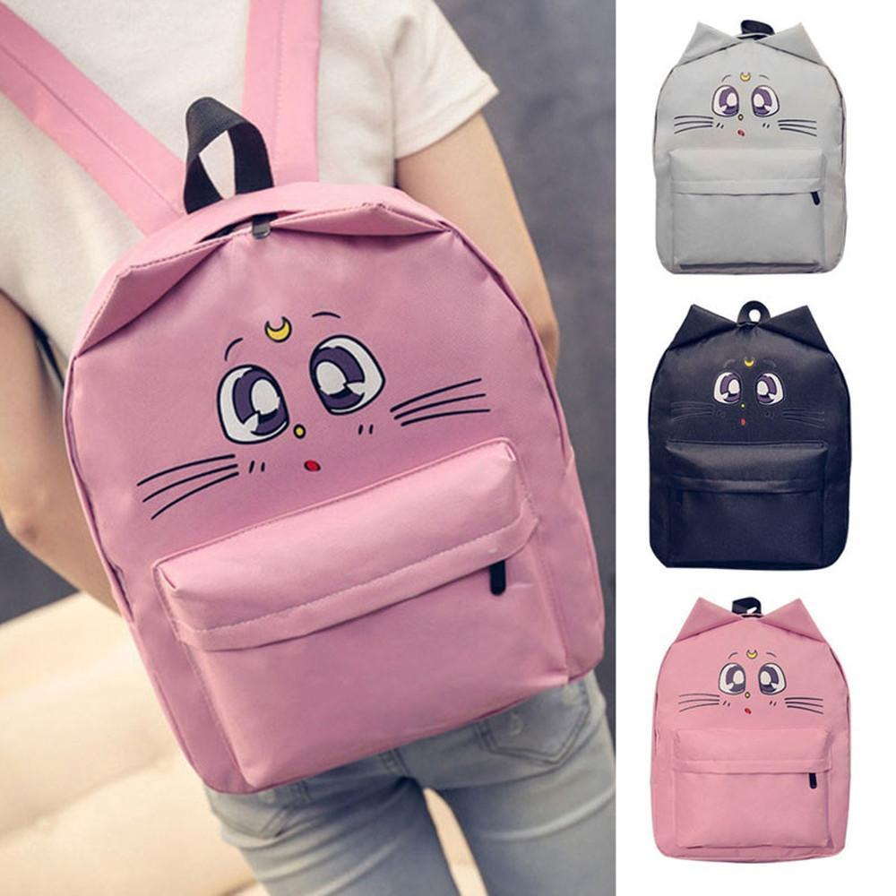 Sailor Moon Cat Backpack Canvas [3 Colors] #JU1836-Juku Store