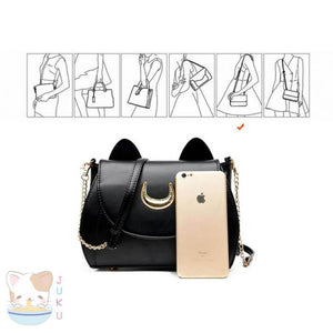 Sailor Moon Purse Luna/Artemis Designer Handbag [2 Colors] #JU1816-Juku Store