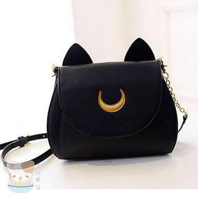 Sailor Moon Purse Luna/Artemis Designer Handbag [2 Colors] #JU1816-Luna-Juku Store