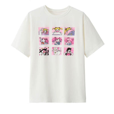 Sailor Moon T-Shirt Harajuku Cartoon Top #JU2399-Juku Store