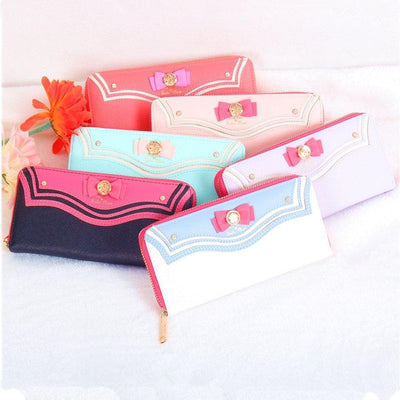 Sailor Moon Wallet (Can Hold iPhone 7) [4 Colors] #JU1817-Juku Store