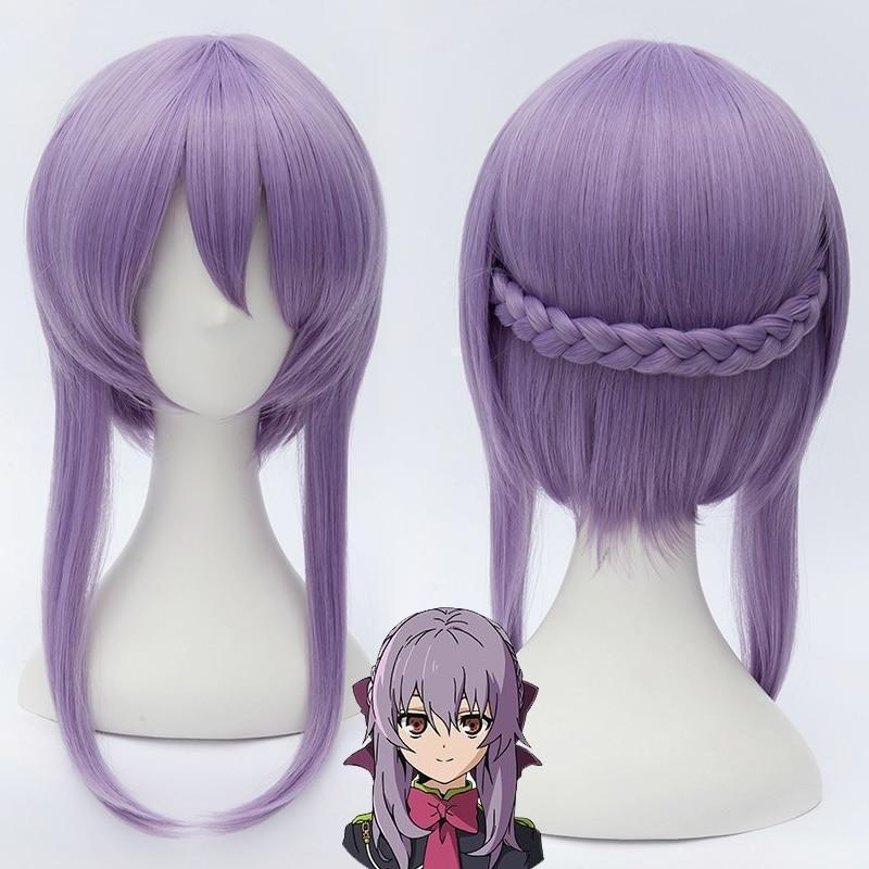 Seraph Of The End - Shinoa Hiragi Purple Braid Cosplay Wig #JU2326-Wig and Cap-Juku Store