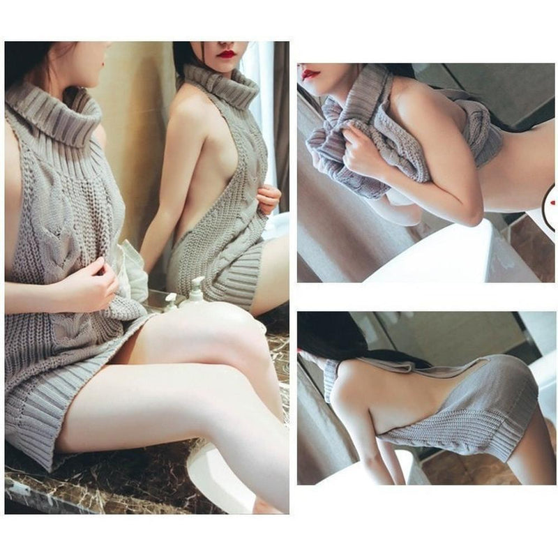 Sexy Virgin Killer Sweater Sleeveless Turtleneck [6 Colors] #JU1818