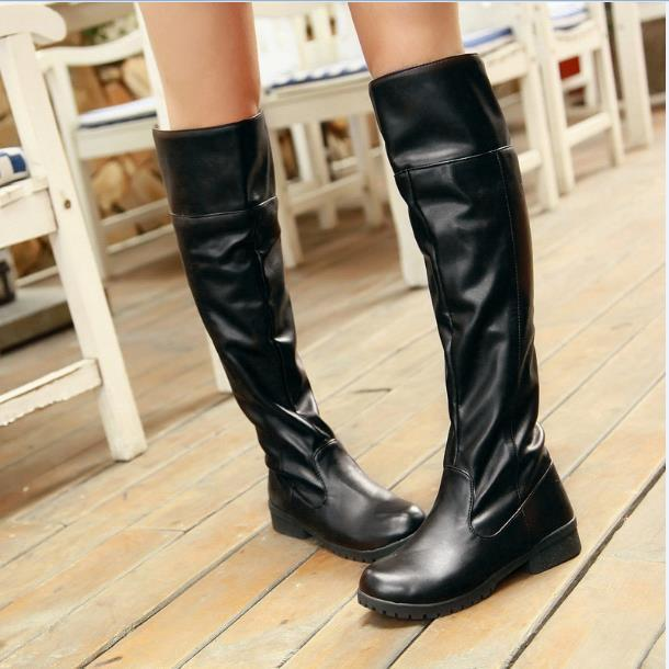 Shingeki no Kyojin Over-the-Knee Boots Attack on Titan Cosplay #JU2470-Brown-34-Juku Store