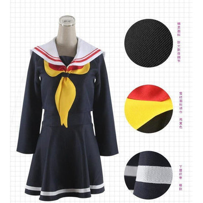 Shiro Cosplay [No Game No Life] Sailor Uniform Schoolgirl Seifuku [2 Colors] #JU2126-Navy Blue-S-Juku Store