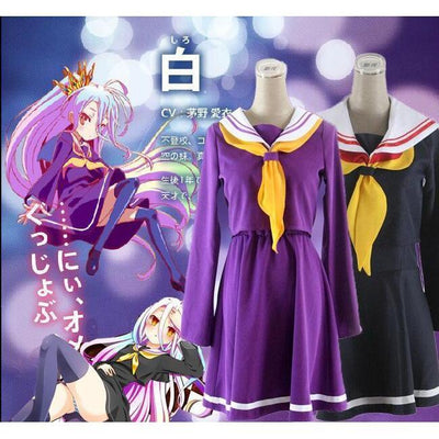 Shiro Cosplay [No Game No Life] Sailor Uniform Schoolgirl Seifuku [2 Colors] #JU2126-Juku Store
