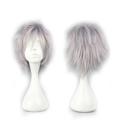 Short Anime Cosplay Wig Heat Resistant [12 Colors] #JU1895-Juku Store