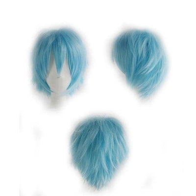 Short Anime Cosplay Wig Heat Resistant [12 Colors] #JU1895-Blue-Juku Store