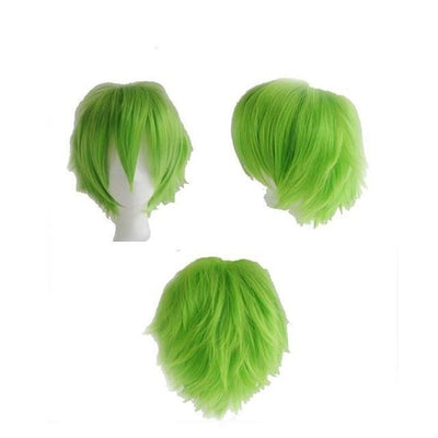 Short Anime Cosplay Wig Heat Resistant [12 Colors] #JU1895-Green-Juku Store
