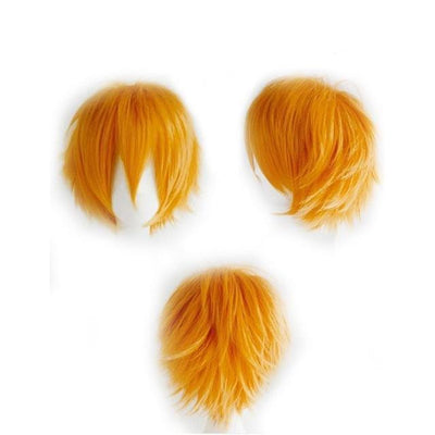 Short Anime Cosplay Wig Heat Resistant [12 Colors] #JU1895-Orange-Juku Store
