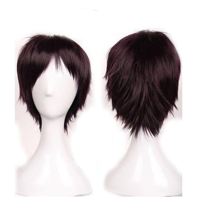 Short Anime Cosplay Wig Heat Resistant [12 Colors] #JU1895-Purple-Juku Store