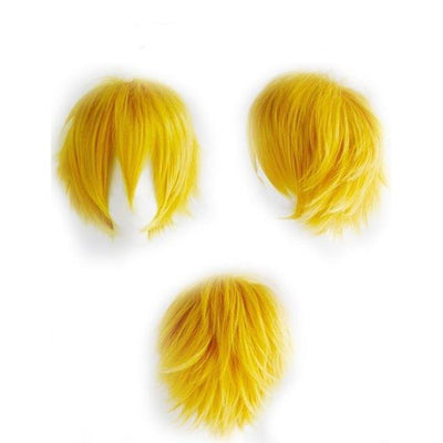 Short Anime Cosplay Wig Heat Resistant [12 Colors] #JU1895-Yellow-Juku Store