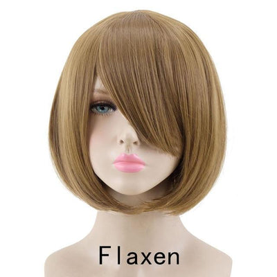 Short Bob Cut Hair Cosplay Wig 35cm [23 Colors] #JU2118-Flaxen-Juku Store