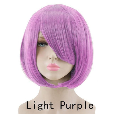 Short Bob Cut Hair Cosplay Wig 35cm [23 Colors] #JU2118-Light Purple-Juku Store