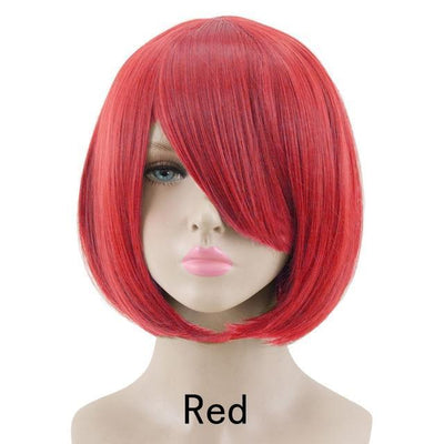 Short Bob Cut Hair Cosplay Wig 35cm [23 Colors] #JU2118-Red-Juku Store