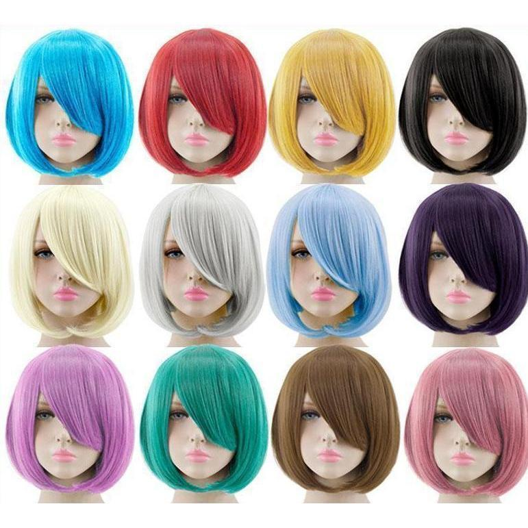 Short Bob Cut Hair Cosplay Wig 35cm [23 Colors] #JU2118-Juku Store