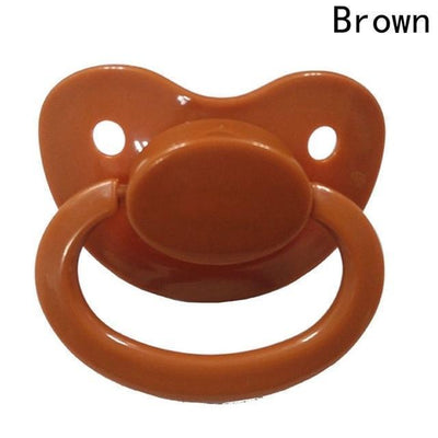 Silicone Adult Pacifier [8 Colors] #JU2368-Brown-Juku Store