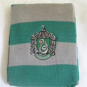 Soft Warm Harry Potter Scarf Cosplay Accessory [4 Styles] #JU2142-Slytherin-Juku Store